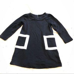 Hanna Andersson Color Block Dress Pockets Black
